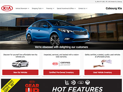 Cobourg Kia screenshot