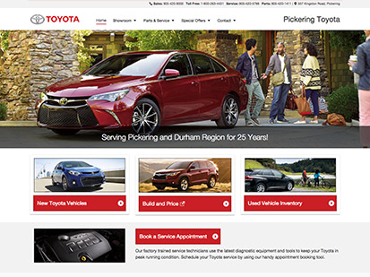 Pickering Toyota screenshot